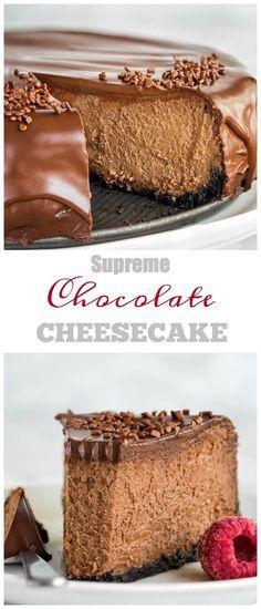 Supreme Chocolate Cheesecake