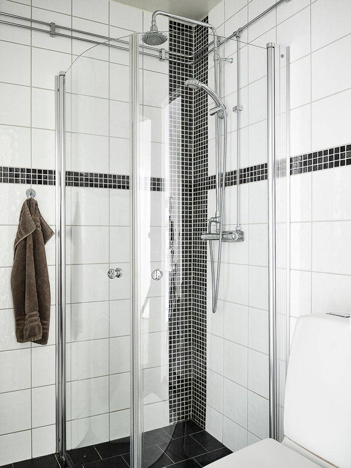 como decorar un Apartamento estilo nórdico en Blanco y Negro