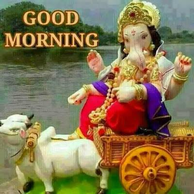 lord ganesha good morning whatsapp image