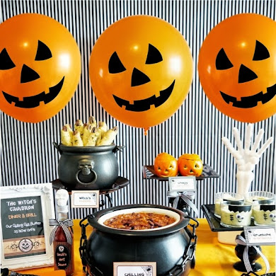 A Halloween Chilling Chili Party Buffet