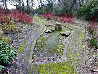 Abandoned Crazy Golf course in Stamford Park, Stalybridge