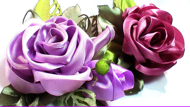 satin ribbon rose