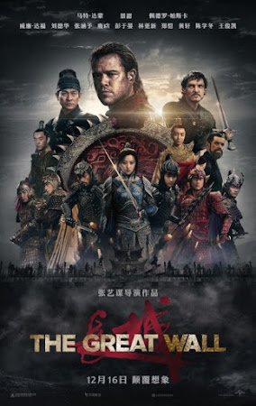 Poster Of The Great Wall In Dual Audio Hindi English 300MB Compressed Small Size Pc Movie Free Download Only At worldfree4u.com
