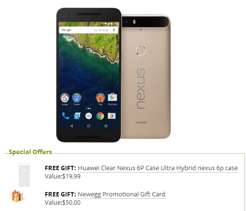 nexus6p-$50-off-newegg