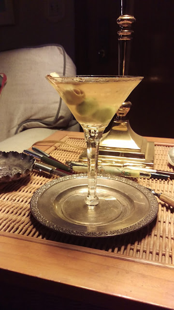 Balsamic Martini with gin, vermouth & balsamic vinegar.