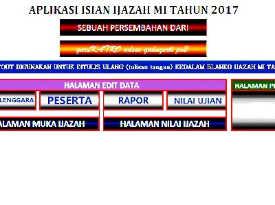 Aplikasi Isian Ijazah MI tahun 2017