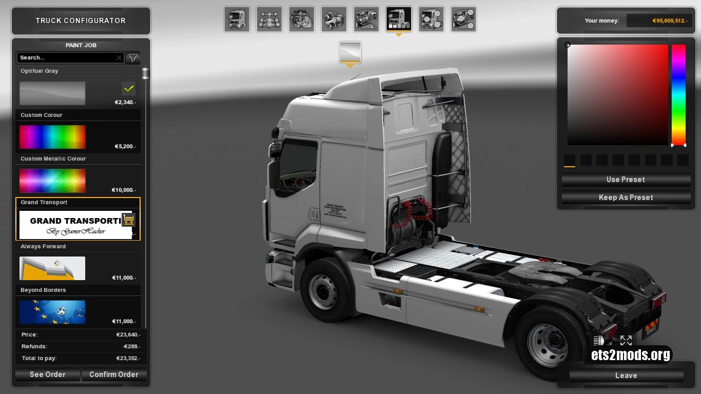 Grand Transporti Skin for Renault Premium