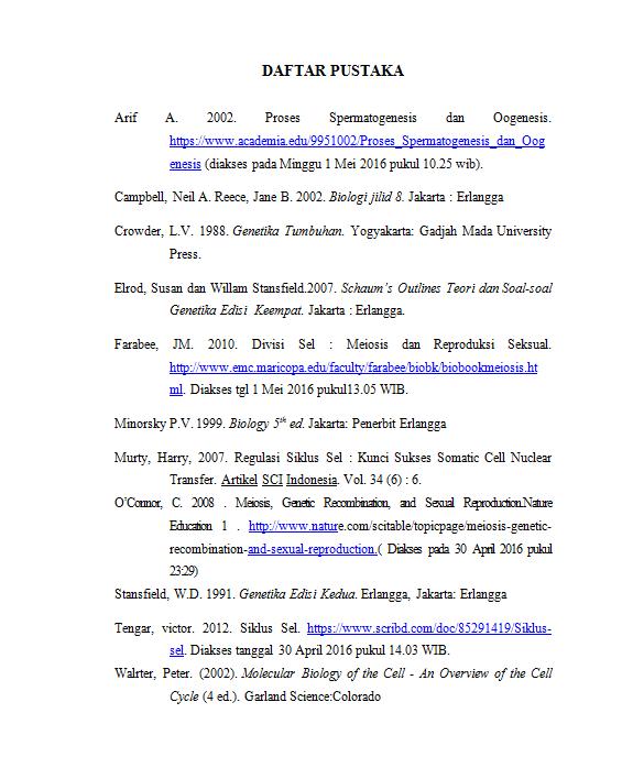 Contoh Daftar Pustaka Yang Benar Dalam Makalah Materi Pelajaran 2