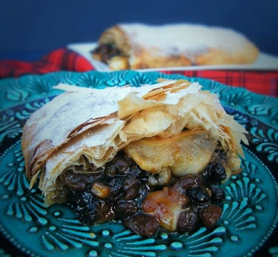 Pear and Mincemeat Strudel