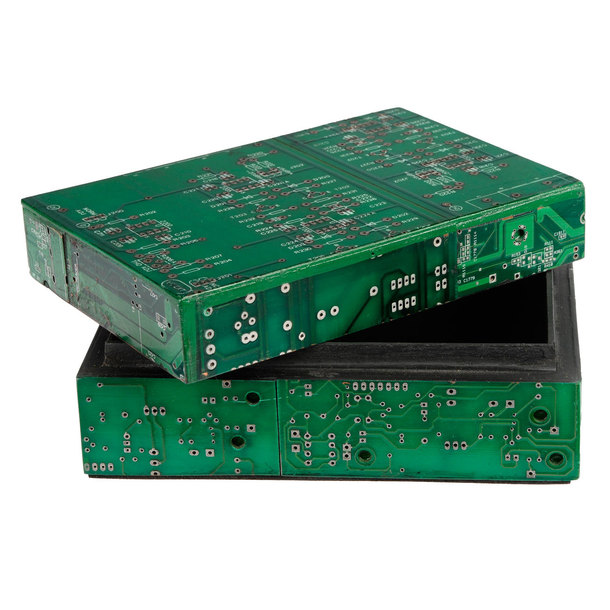 Computer Circuit Boards Recycled Into Mini Magnetic Clipboards For