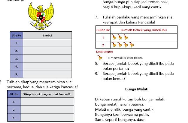 Soal UAS Semester 2 Kelas 2 SD Kurikulum 2013 Revisi Dan Kunci Jawaban