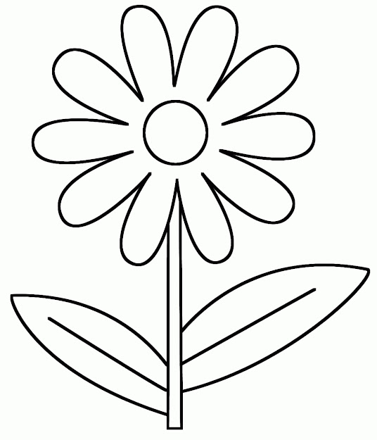 Printable Flowers Coloring Page Free Flower Coloring Pages For  Preschoolers  Coloring Page