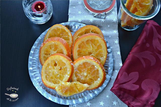 Naranjas escarchadas (Fruta escarchada)