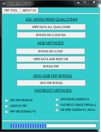 FRP UNLOCK TOOL WITHOUT BOX (GD FRP TOOL) FASTBOOT,EDL,ADB CRACK 2019