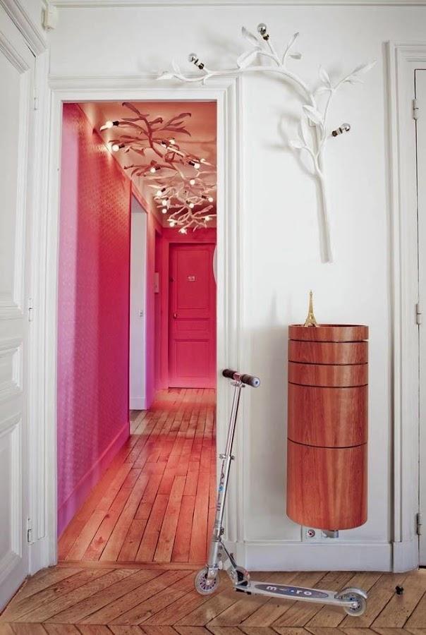 Pintura para pasillo rosa fucsia