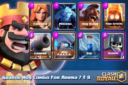 Strategi Deck Guards + Hog Rider di Arena 7 & 8 Clash Royale