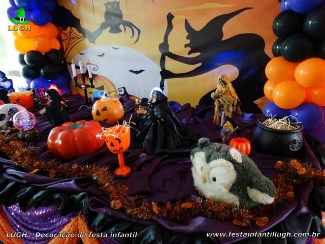 Decoração mesa luxo de aniversário tema Halloween - festa infantil