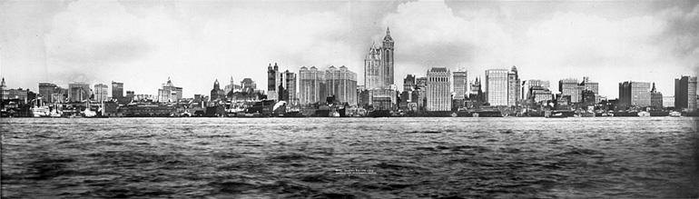 Photographie panoramique de New York en 1908 par Irving Underhill