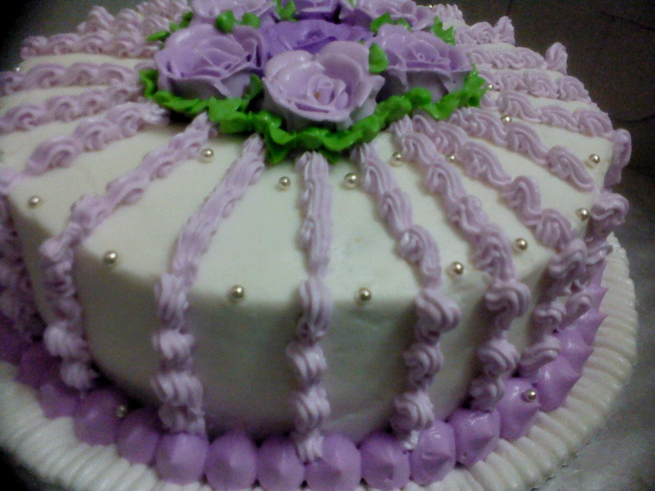 Balqisyia S Choc Shop Wedding Cake 2 Tier Purple Theme