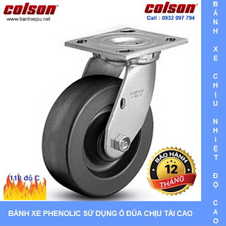 Bánh xe chịu nhiệt độ cao, bánh xe Phenolic Colson www.banhxedayhang.net