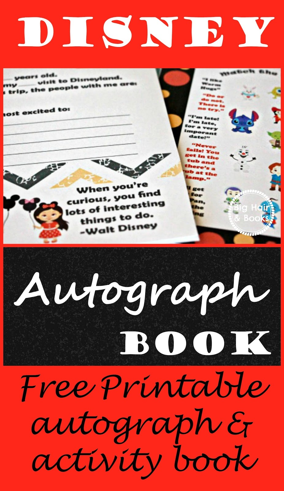 photo about Printable Disney Autograph Book referred to as Substantial Hair and Guides: Disney Autograph Video game E-book Absolutely free