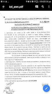Kurnool DMHO/ HM& FW AP IInd ANM (Second ANM) Notification 2018