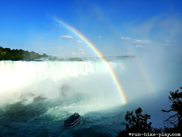 Double Rainbow at Horseshoe Falls at Niagara