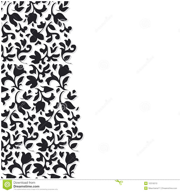 Vector Black Flower Background