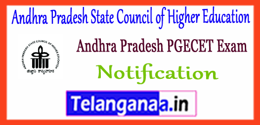 AP PGECET Andhra Pradesh State Council of Higher Education 2018 Notification Application Time Table