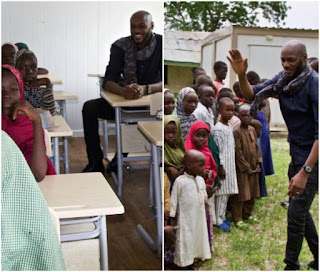 Photos of 2face Idibia at Borno State's IDP camp 1