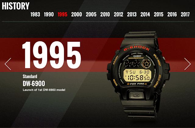 G-Shock DW-6900 Fox Fire Tahun 1995