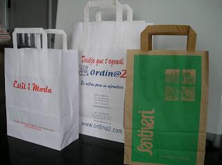 bolsas de papel con asa plana