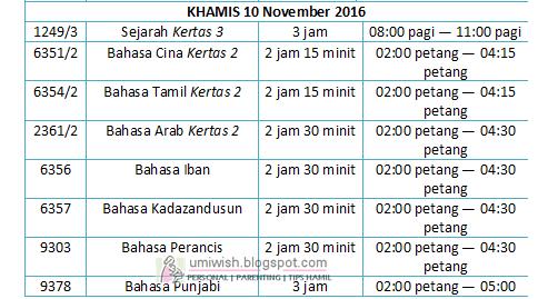 jadual waktu peperiksaan bertulis sijil pelajaran malaysia (spm) 2016, muat turun download jadual peperiksaan SPM 2016, jadual exam spm 2016, tarikh ujian spm 2016