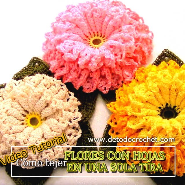 flores crochet tutorial en video