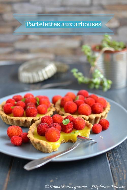 Tartelettes aux arbouses et crème au citron véganes