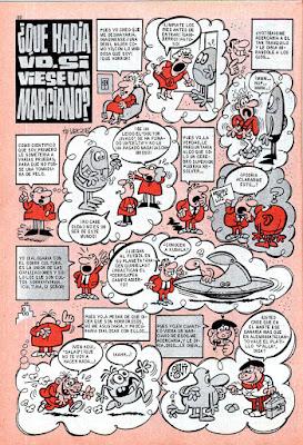 ¿Qué haría vd. si viese un marciano? Super Mortadelo nº  13 (1972)