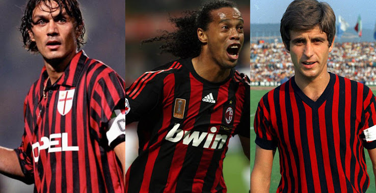 Which Is The Best Worst Here All Ac Milan Home Kits In History Including The First Ever Jersey Footy Headlines