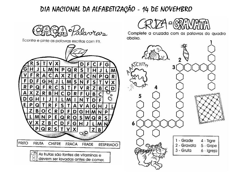 Dia Nacional Da Alfabetizacao Atividades Exercicios Desenhos