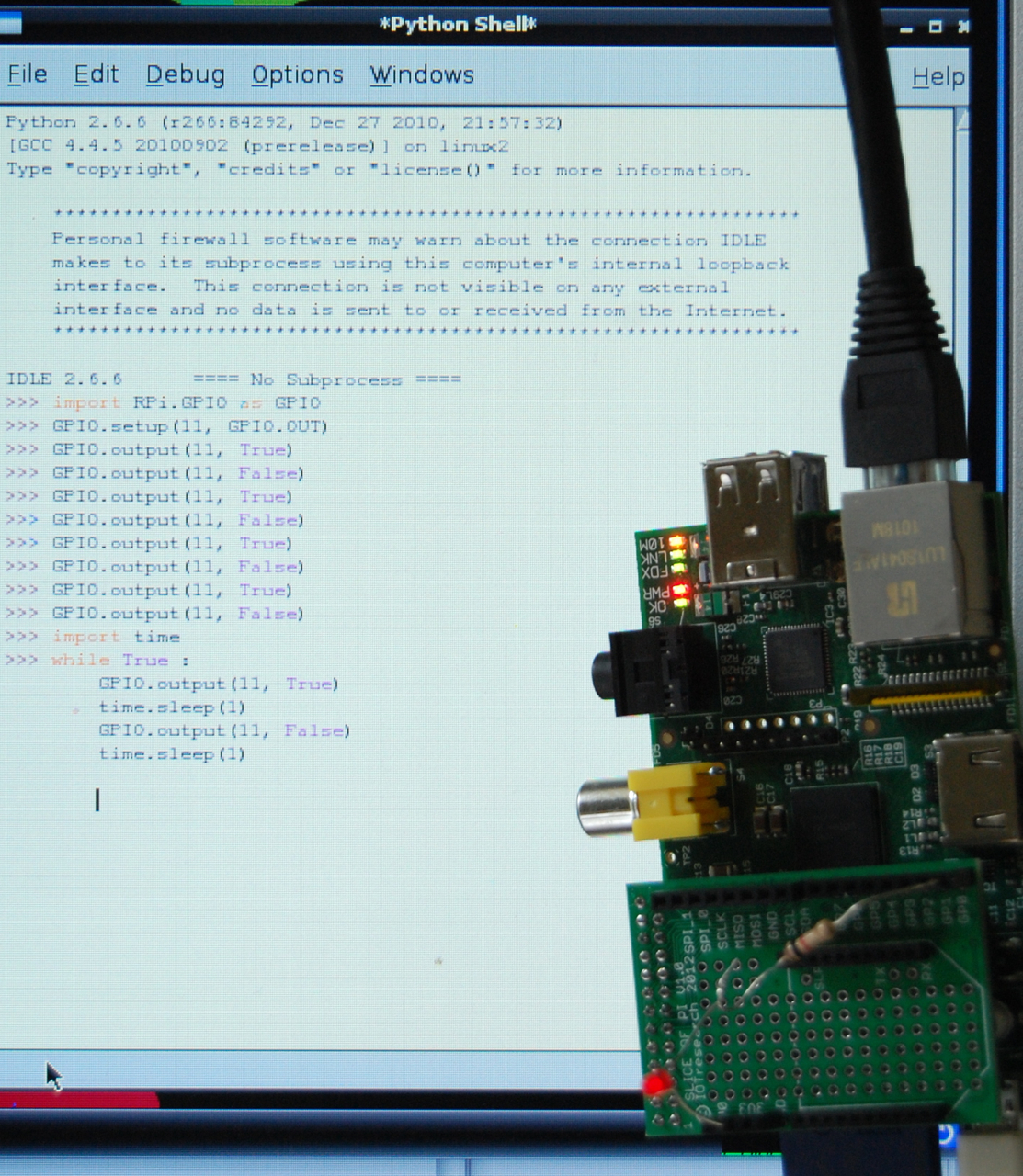 Dr  Monk's DIY Electronics Blog: GPIO LED blink from Python
