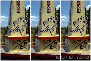 contoh graffiti yang bukan seni tetapi vandalisme atau perusakan