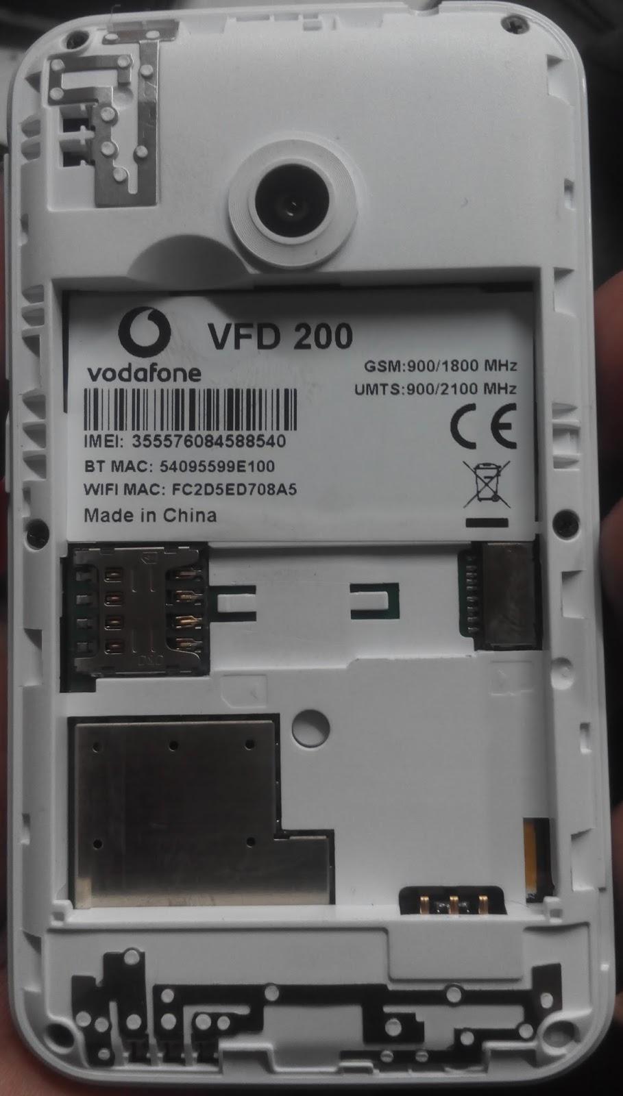 UNCOMON FILE SIDE: VODAFONE VFD 200 SC7731G FLASH FILE OFFICIAL