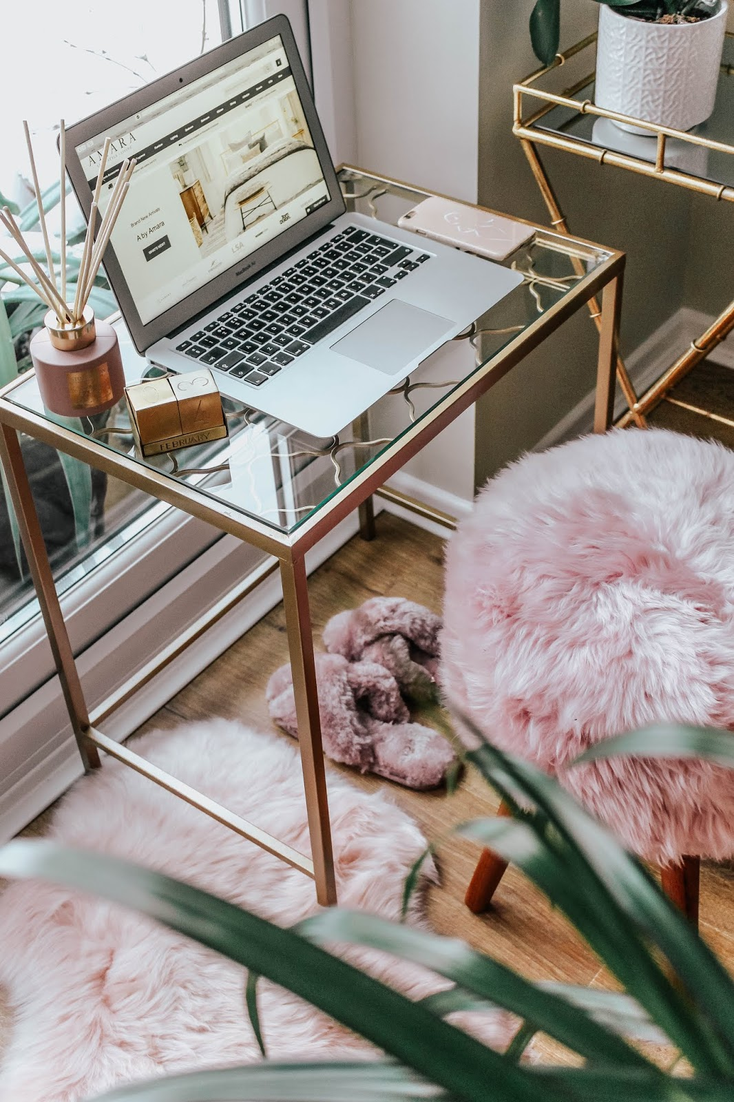 Lifestyle Blog Pretty Pink Home Office