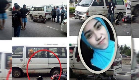 NGERI !!! 10 Foto NGERI… Remaja Cantik,18 Tahun Bergesel Dengan Van & Kepala Digilis Lori Sampai PECAH. Al Fatihah…