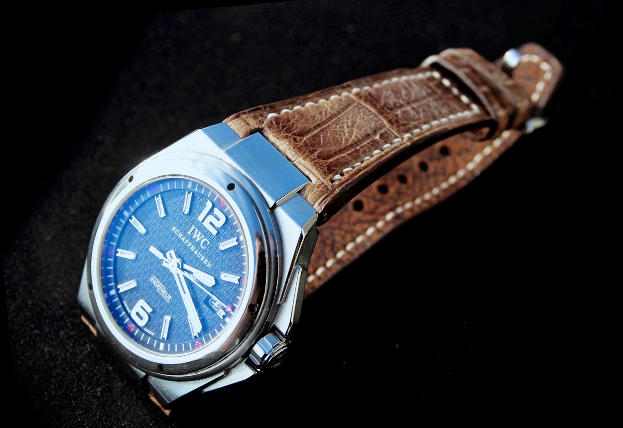 Alex's IWC Ingenieur Mission Earth on Verona Gold Alligator strap