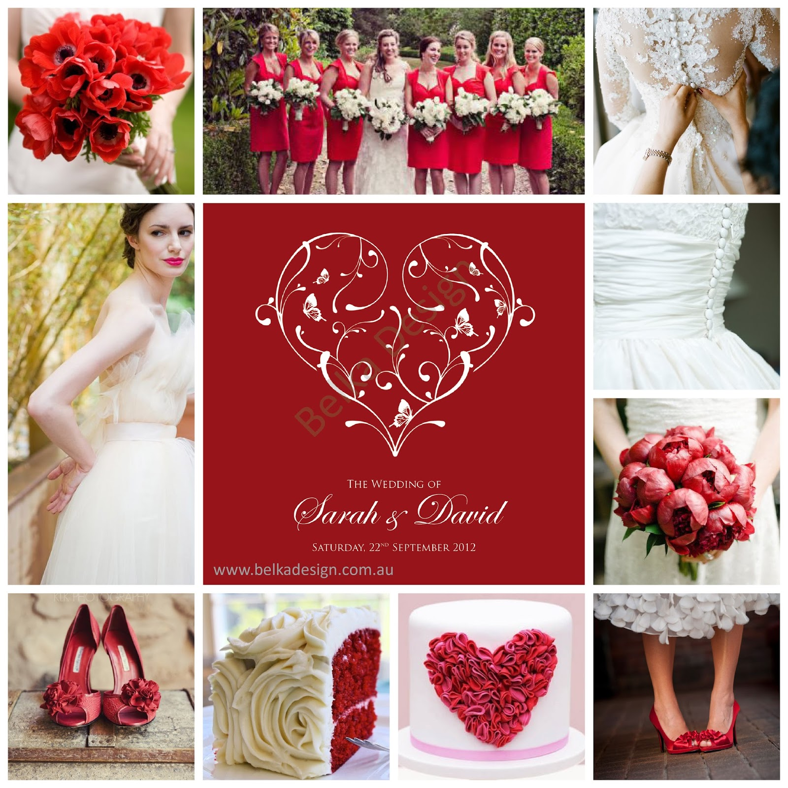 Romantic Red Wedding Ideas: Belka Design: Gallery