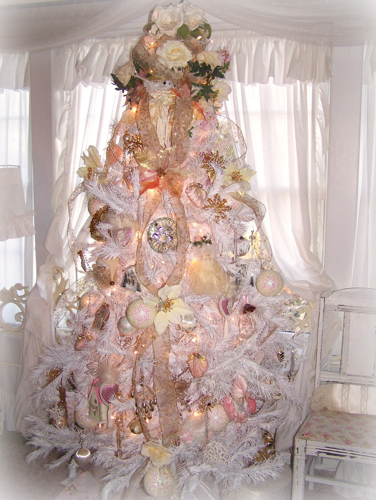 Shabby Chic Weihnachtsbaum Christmas Tree Decorations Shabby Chic Decorating Ideas