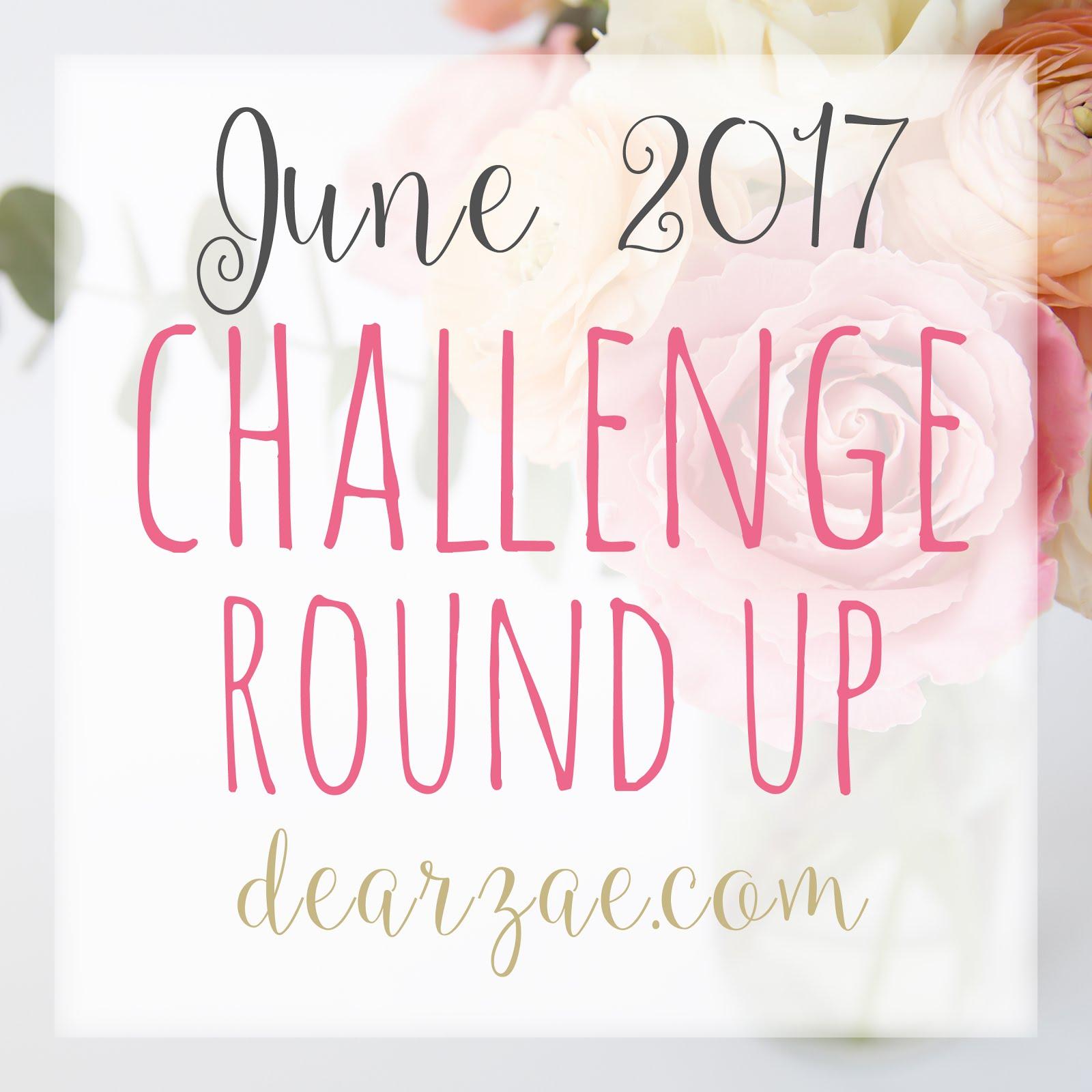 June scrapbook challenge round up - Dear Zae