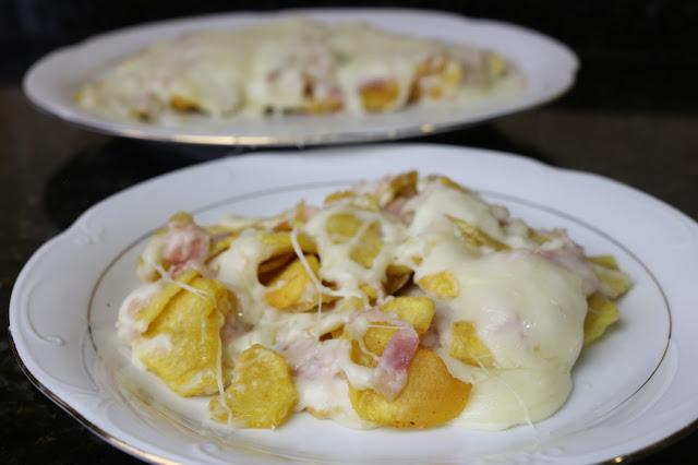 Patatas con bechamel