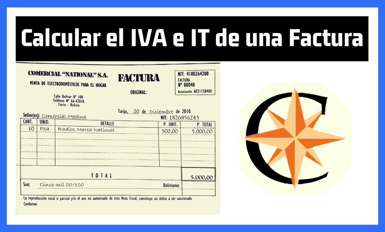 Como Calcular el IVA e IT en una Factura