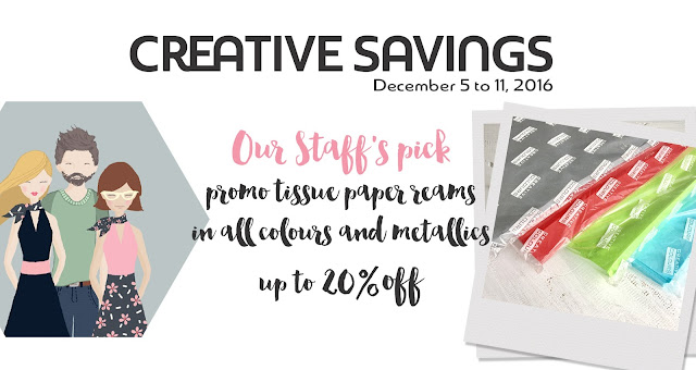 Sale on tissue paper reams. If you use a lot of tissue paper in your business, for gift wrapping or crafting - buying tissue paper in reams is the most economically way to go!
